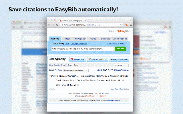 Easybib extension